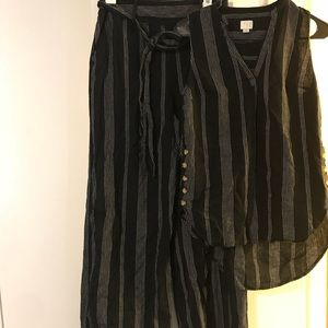 Striped Linen Set